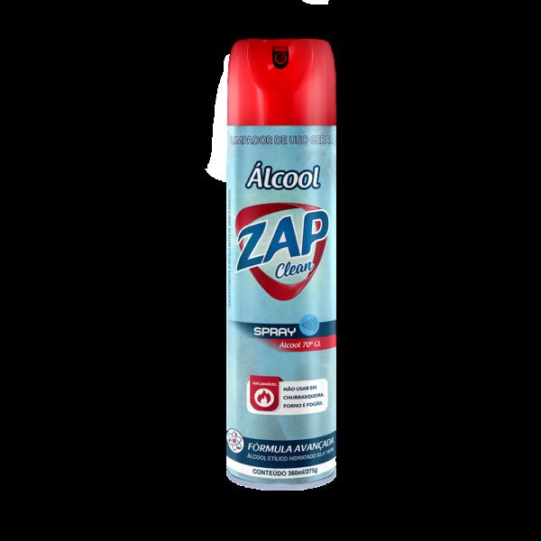 Álcool Aerossol 70° GL Zap Clean - 360ml