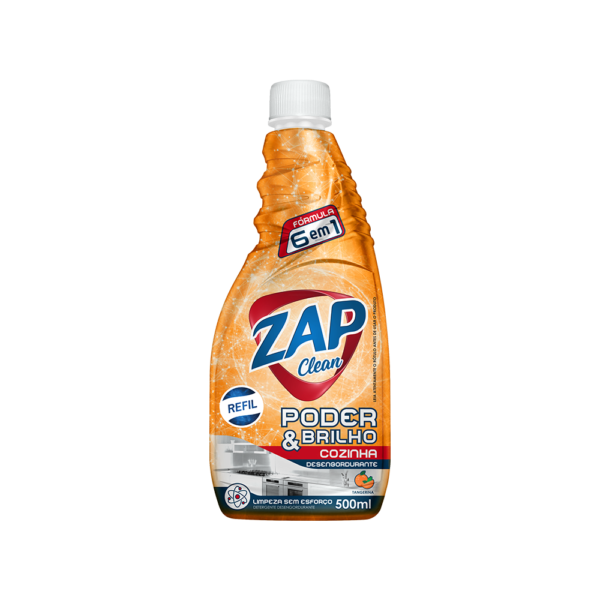 Desengordurante Zap Clean - Refil - Tangerina - 500ml
