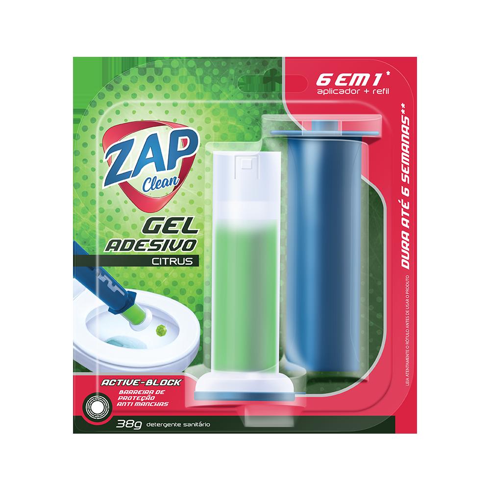 Gel Sanitário Adesivo Zap Clean - Citrus - 38g