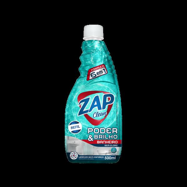 Limpa Banheiro Zap Clean Poder & Brilho – Refil – 500ml