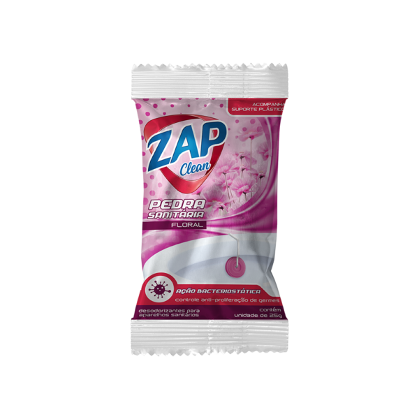 Pedra Sanitária Zap Clean - Sache - Floral - 25g