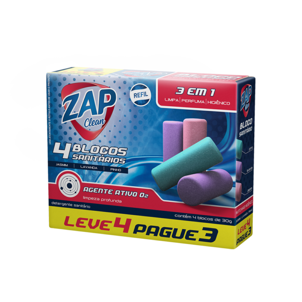 Promoção Refil Sanitário Zap Clean - Leve 4 Pague 3