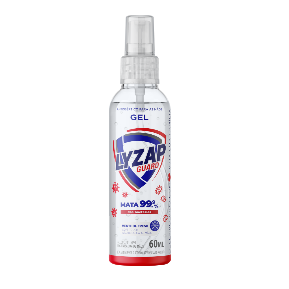 Lyzap Guard Álcool Spray Higienizante Para as Mãos 70° INPM 50ml
